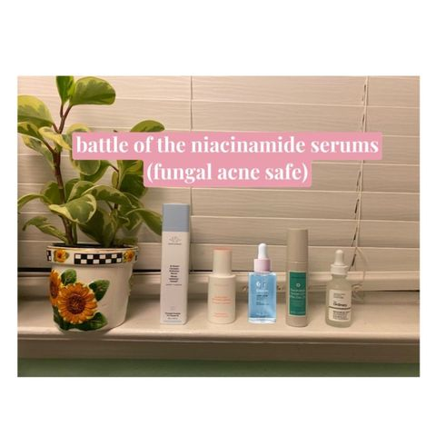 the best niacinamide serum for fungal acne!