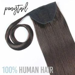 Human Ponytail Clip in Hair Extensions