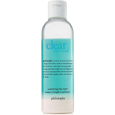 Clear Days Ahead Mattifying Clay Toner, philosophy, cherie