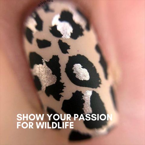 Trendy and unique animal print nail designs 2020