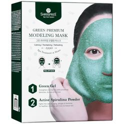 Green Premium Modeling Mask With Bowl and Spatula