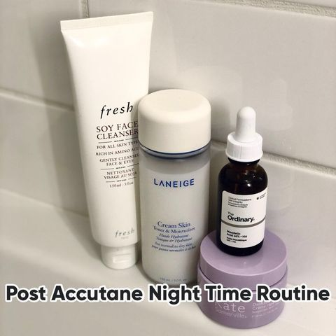 Post Accutane Night Time Skin Care Routine