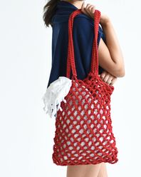 Monterey Net Tote Red