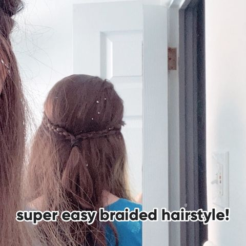 Five minute everyday braided hair
