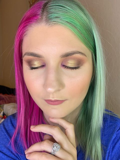 Simple Glam with a Pop of Color