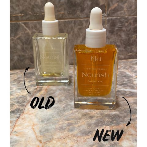 Old vs. New: Klei Beauty's Nourish Facial Oil