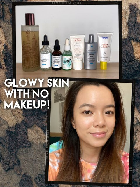 My Skincare Routine for Glowy Skin✨💖 no makeup!