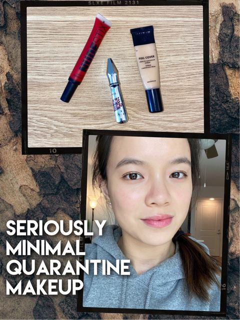 MINIMAL MAKEUP ROUTINE FOR SELF-QUARANTINE