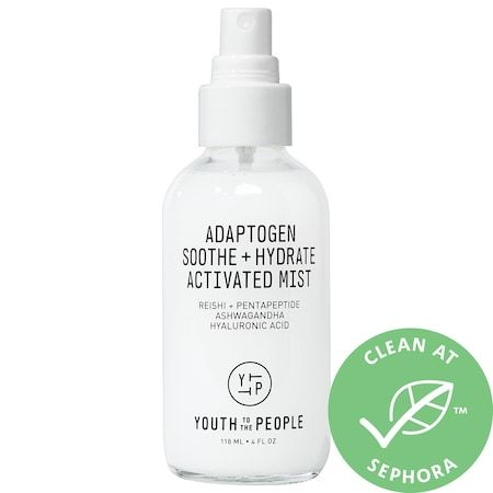Adaptogen Soothe + Hydrate Activated Mist with Reishi + Ashwagandha, YOUTH TO THE PEOPLE, cherie