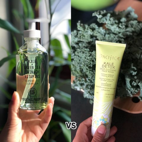 Is it a dupe? Battle of the Kale Cleansers!!