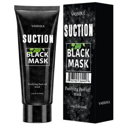 Deep Cleansing Peel Off Blackhead Mask, Bamboo Activated Charcoal Peel-Off Mask