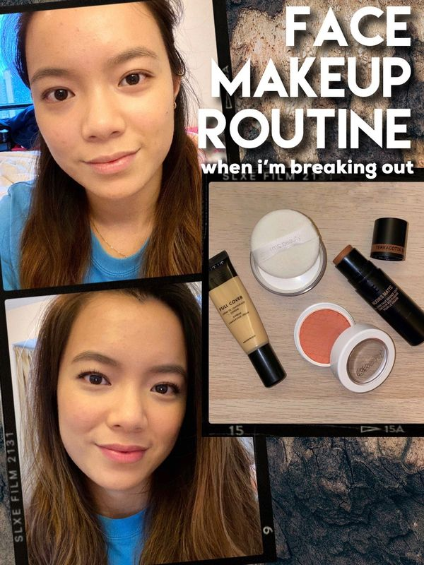 MY FACE MAKEUP ROUTINE for when I'm breaking out | Cherie
