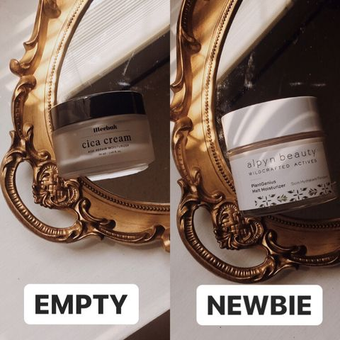 night cream: one empty one newbie