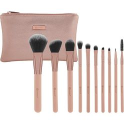 Pretty in Pink 10 Piece Brush Set with Cosmetic Bag
