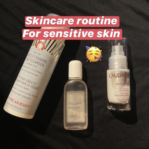 Skincare routine for my sensitive skin!!