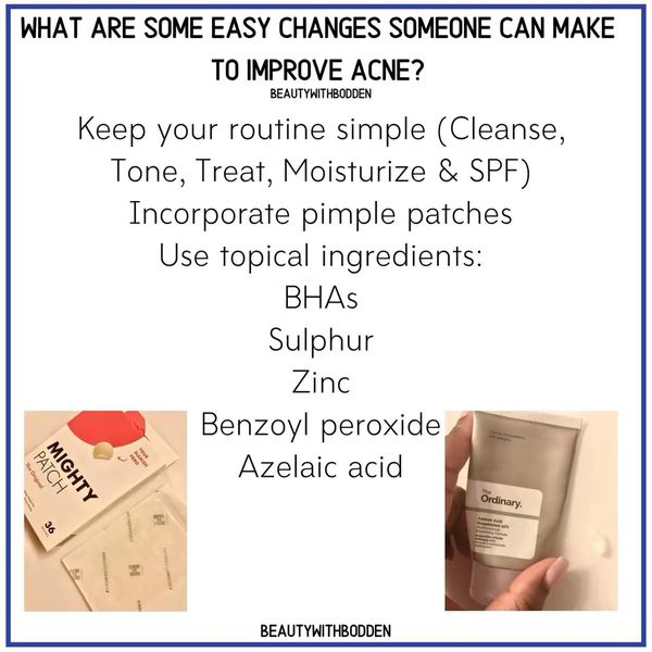 EASY changes to improve acne!!    Cherie