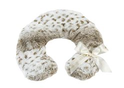 Lavender Spa Neck Pillow in Arctic Circle Faux Fur