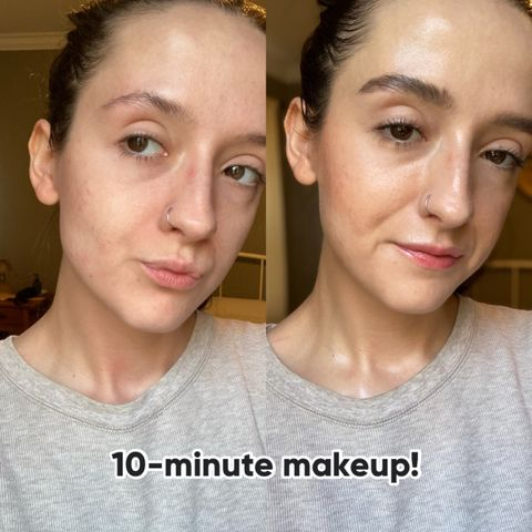 A full face in just 10 minutes!