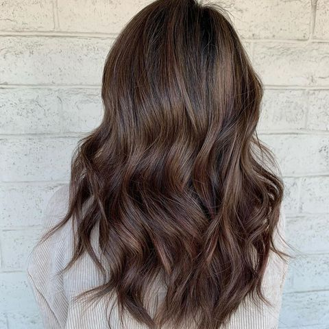 Darker warm color hair look!