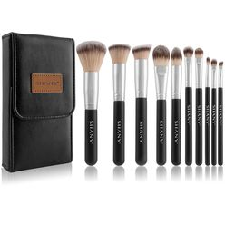 Black Ombré Pro 10 pc Essential Brush Set With Travel Pouch