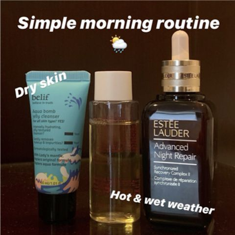 Staying at home morning routine