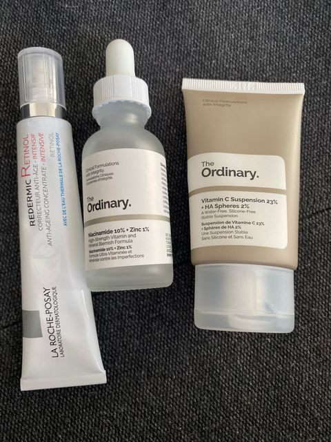 Retinol with niacinamide