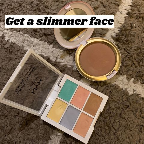 My secretto slim down my face with highlighter and bronzer
