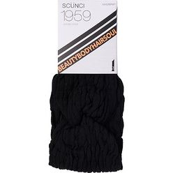 Rouched Black Headwrap