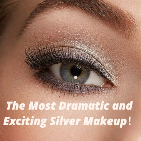 Dramatic silver makeup - from disco to goth and everything in between!