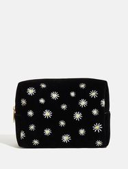 Daisy Meadow Embroidered Wash Bag