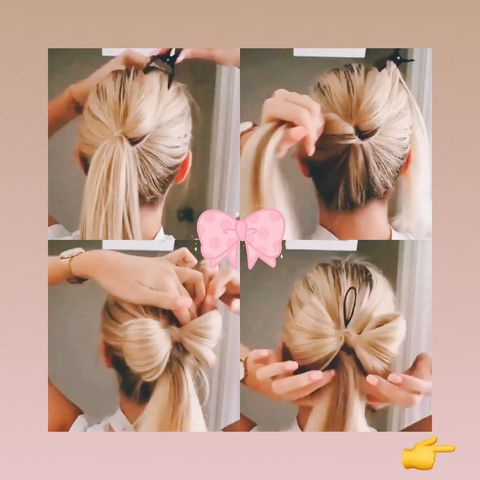🎀Super cuuute hairstyle without any hair accessories!