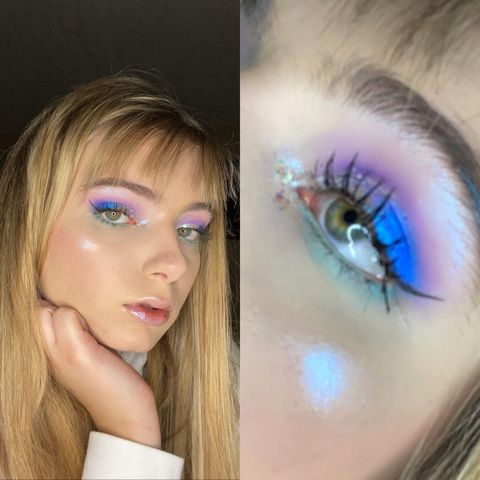 MERMAID inspired makeup!🧜🏼‍♀️🌊🐚