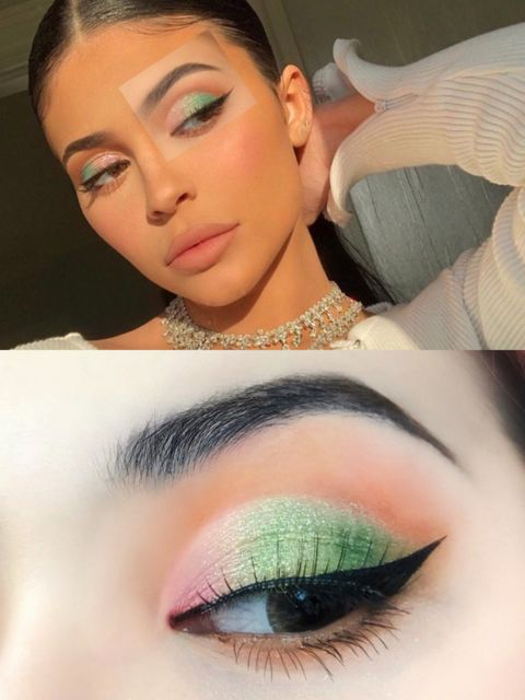 I don't have the Kylie's figure, but I can follow her eye makeup👀