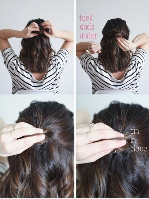 "How To Make A ""Lob"" Half Bun In 10 Minutes 👱‍♀️👱‍♀️"