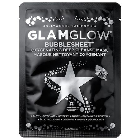 BUBBLESHEET Oxygenating Deep Cleanse Mask, GLAMGLOW, cherie