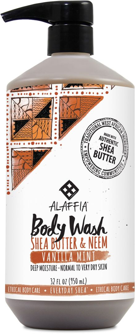 Shea Body Wash-Vanilla Mint