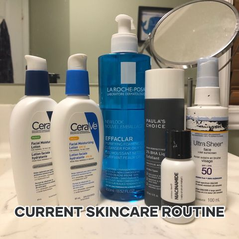 My current skincare routine for oily skin