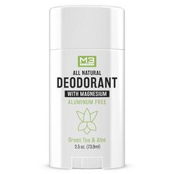 All Natural Deodorant With Magnesium Green Tea and Aloe for Men and Women