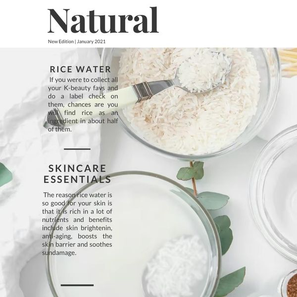 The Benefits of Rice Water  | Cherie