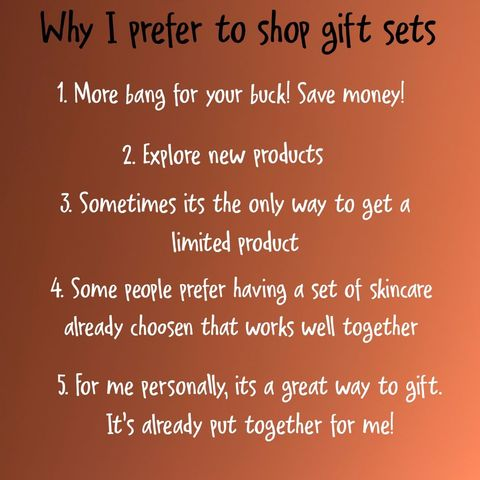 Why I purchase gift sets