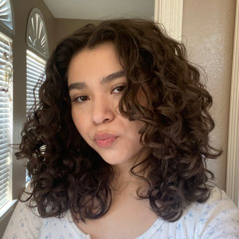 2c curly hair routine💗