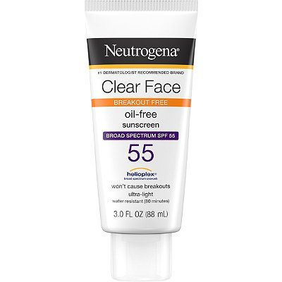 Clear Face Oil-Free Sunscreen SPF 55, Neutrogena, cherie
