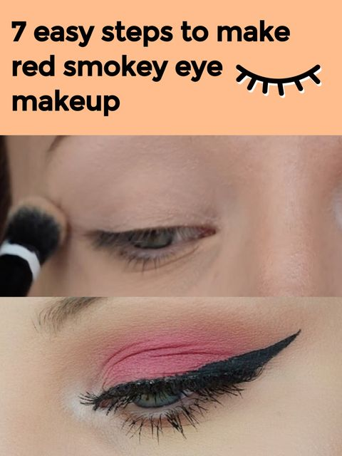 Easy 7 Steps to Have Red Smokey Eye Makeup!