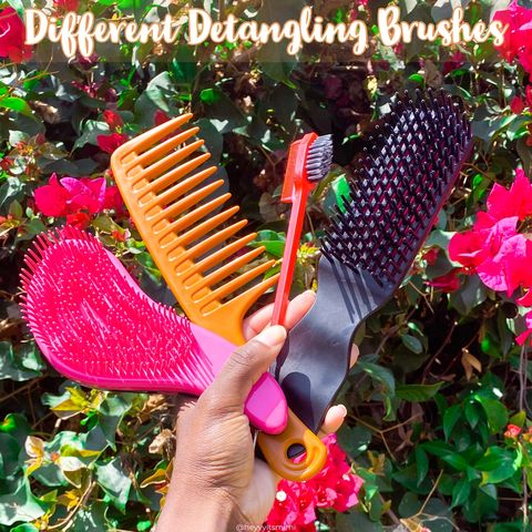 Different detangling tools do different things