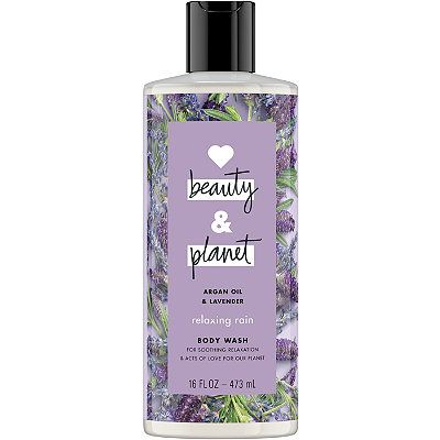 Argan Oil & Lavender Relaxing Rain Body Wash, LOVE beauty AND planet, cherie