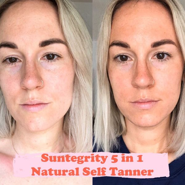 Before + after of the sun tegrity - Natural Self Tanner ! My initial thoughts?... | Cherie