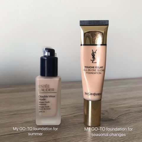 My GO-TO Foundations for Different Seasons
