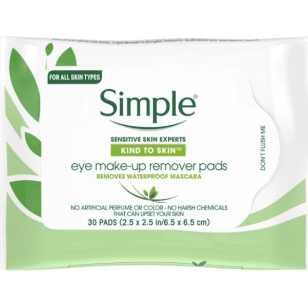 Kind to Skin Eye Make-up Remover Pads , Simple, cherie