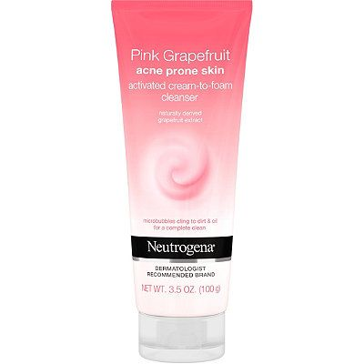 Pink Grapefruit Activated Cream-to-Foam Facial Cleanser