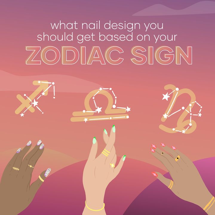 Easy At-Home Nail Art Ideas, Based On Your Zodiac Family